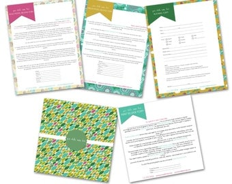 INSTANT DOWNLOAD - Basic Photography Forms Templates - 0785