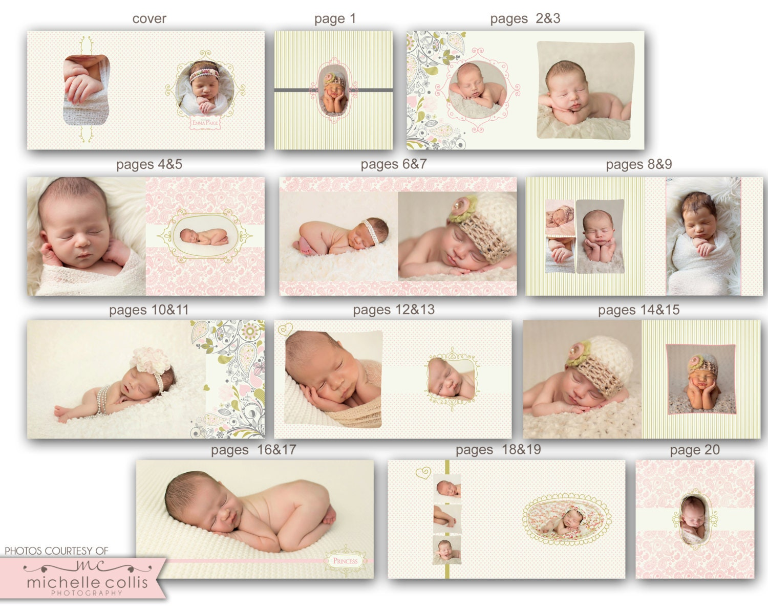 baby album template for photographers emma 0721 fa