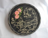 Souvenir Metal Tray from Cape Cod for Your Cottage Chic, Vintage Inspired Decor
