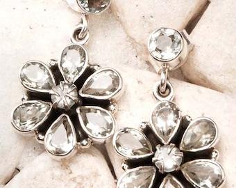 Sterling silver earrings,Quartz Earrings,Fine Silver Jewelry,November birthstone,gemstone earrings TANEESI