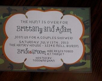 CUSTOM Camouflage Wedding Invitation
