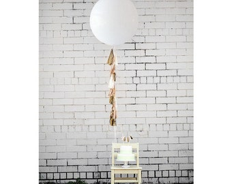 Balloon Tassels: Blush w/White Balloon