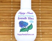 French Lilac Hand Cream for Knitters - Refillable 1oz Tottle HAPPY HANDS Shea Butter Hand Lotion