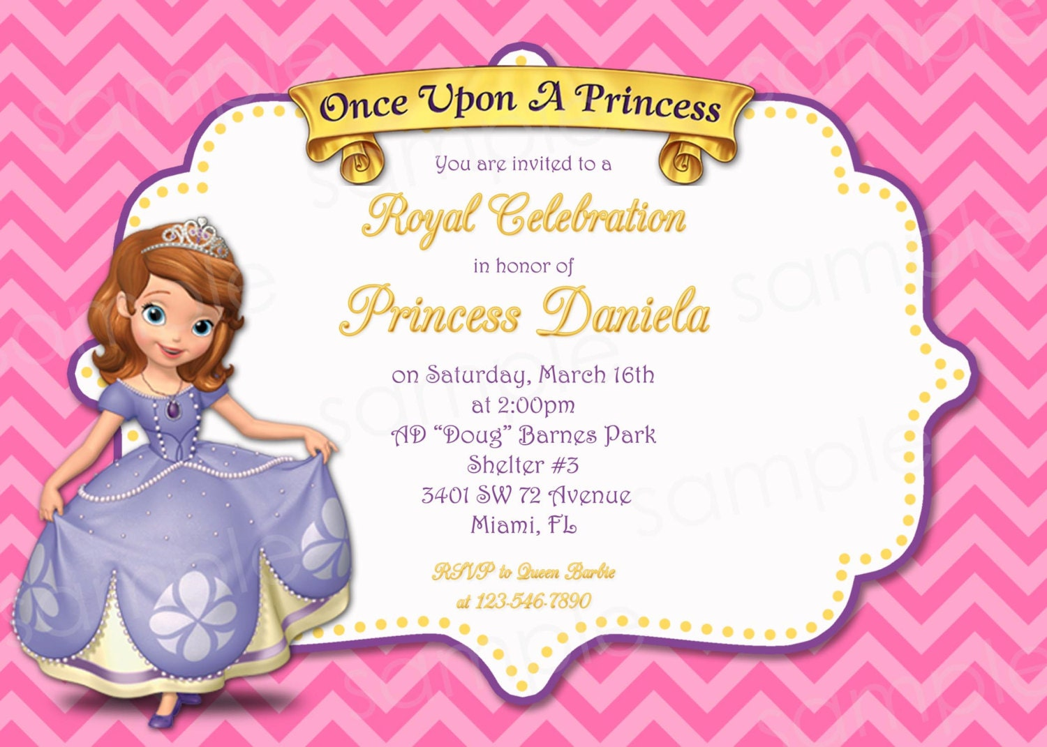 PRINTABLE Sofia the First Princess Birthday by modpoddesigns: www.etsy.com/listing/125270703/printable-sofia-the-first-princess