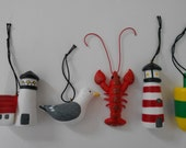 Seaside Ornament Set (set of 5) - happycreations4u