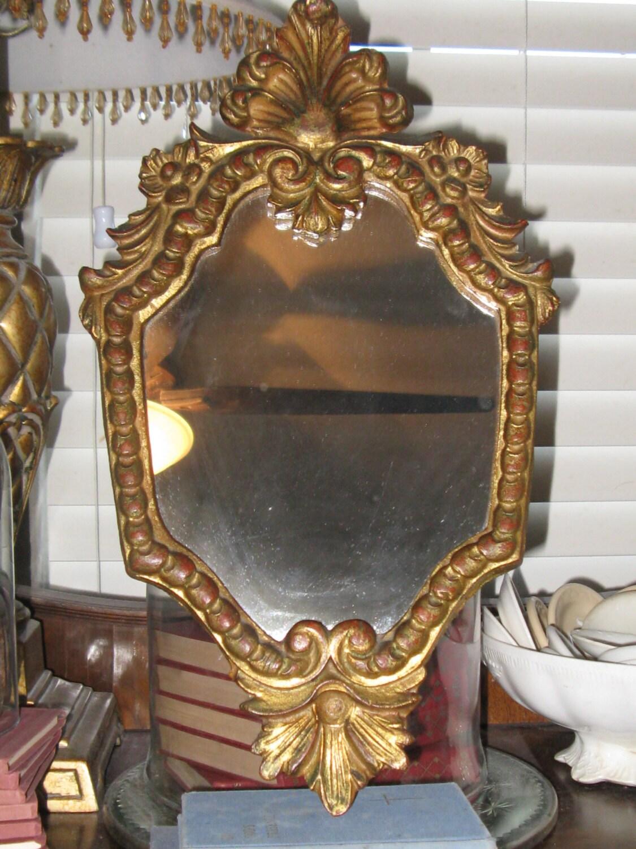Perfectly Beautiful Italian Carved Mirror Gilded by OkieGirlStuff