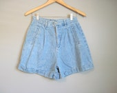 High Waisted Jean Shorts Vintage Cuffed Denim Small Medium
