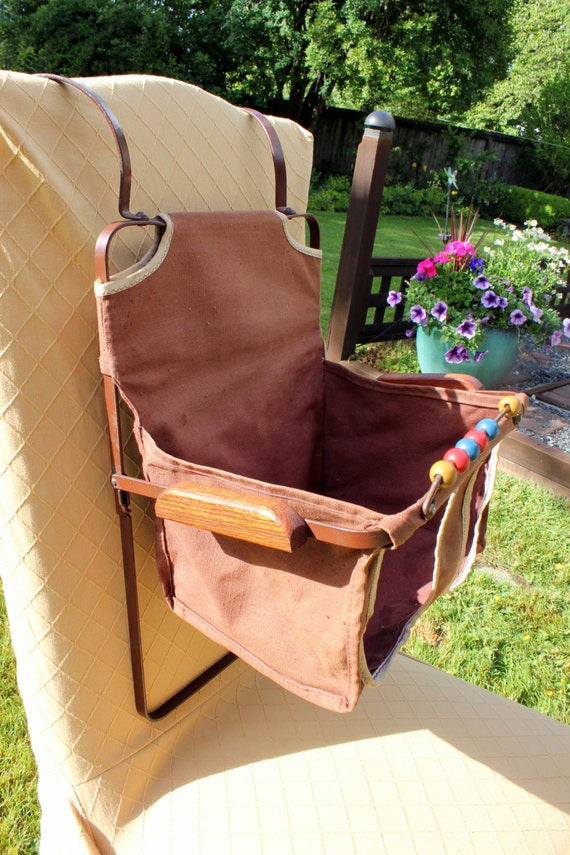 Antique Baby Child Car Seat Booster Chair Folding Canvas