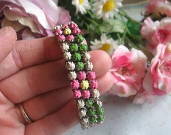 Hard Candy no 3.vintage upcycled rhinestone bracelet