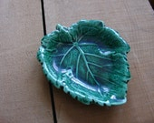 Wedgewood Green Leaf Candy Dish//Made in England