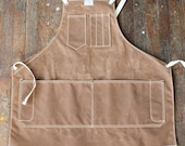 No. 325 Artisan Apron in Rust Waxed Canvas & Cotton Tape