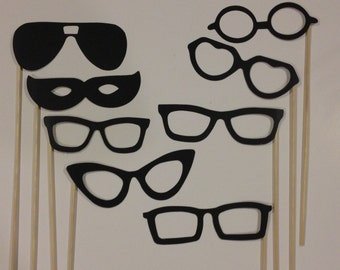 Glasses on a Stick Photo Prop Set