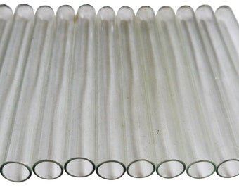 A dozen Vintage 1960's East German Lab Glass Test Tubes