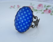 75% off enter LOVE2016.  Christmas Gift, Bohemian Blue Ring Cuff, Gift