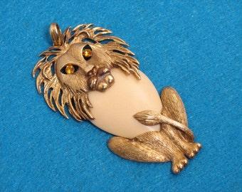 Vintage Lion Pendant