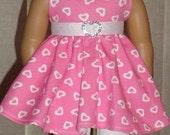 Heart Print Knit Twirl Dress & Leggings For American Girl Or Similar 18-Inch Dolls