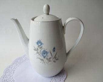 Coffee Pot Royal Taunton Blue Rose Coffee Pot - Classic Vintage