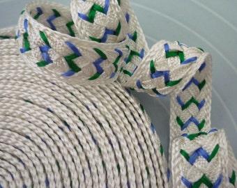 Sale Moroccan trim, cream emerald and blue , woven, 3 metres