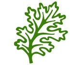 Kale digital stamp clip art green - instant download - also in black