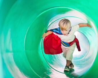 READY TO SHIP - Childrens Blank Reversible Super Hero cape  -Boy birthday gift or girl birthday gift - Christmas Gift
