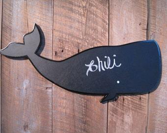Wooden Chalkboard Indoor Whale