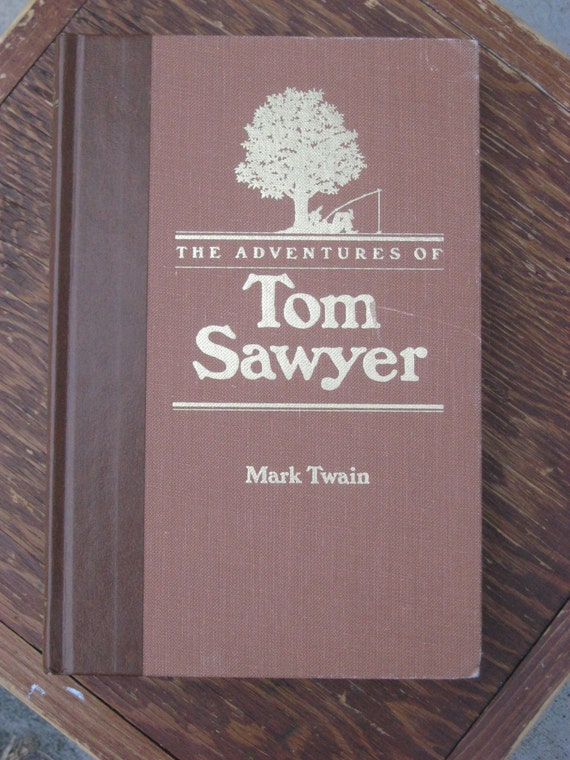 RESERVED - Adventures of TOM SAWYER 1985, Brown Illustrated