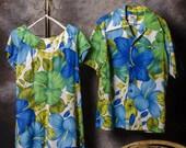 Hawaiian Wedding Set Dress and Shirt Luau