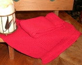 Two Large red Pre-shrunk 100 percent Cotton Machine knit Dish Cloths...11 inches X 12 inches