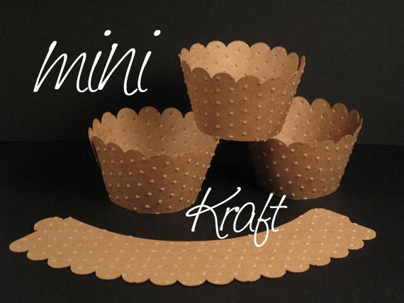 Kraft Mini Embossed Wrappers