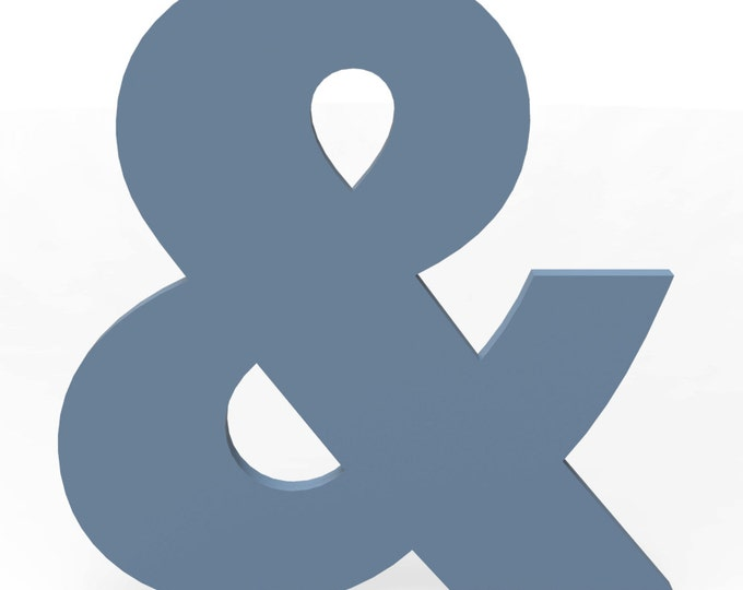 "Custom Hand Cut Letter & Ampersand 18"" tall Painted Finish in your choice of Color and Font."