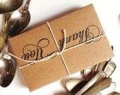 Wedding Favors. Tea for two. Artisan, Eco-Friendly. Custom Stamps Available. Set of 10.