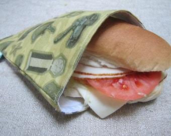 SALE! Reusable Sandwich Bag - Army
