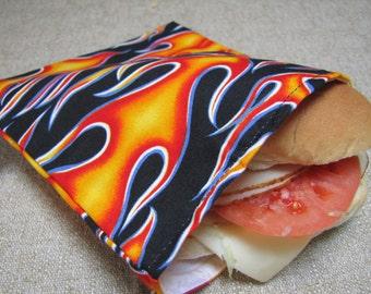 Reusable Sandwich Bag -  Flames