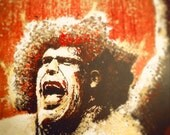 """Andre the Giant's """"Gigantic"""" - 12x18 Signed, Dated and Hand-Stamped Art Print"""