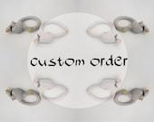 Custom order amumi - Crochet bulky bracelet - nature inspired