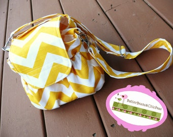 Camera Bag - Padded - Chevron - You CHOOSE Print - Made to Order