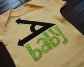 SHORT SLEEVE actue (a cute) baby boy or girl onesie