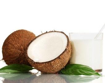SCRUB ~ Coconut Body Scrub Sugar or Sea Salt Body Polish 8 oz Jar