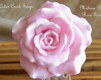 Rose Soap Grand Blooming Soap Rose Soap - Choose Your Scent and Color - Gift Boxed Rose Soap Gift