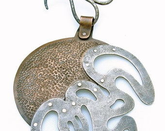 Alluvial Moon - Medallion on a Collar