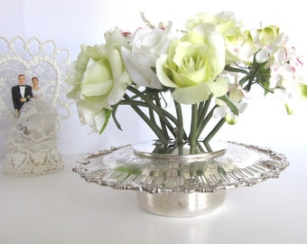Sterling Silver Centerpiece Wedding Decor Floral Frog Vintage from AllieEtCie