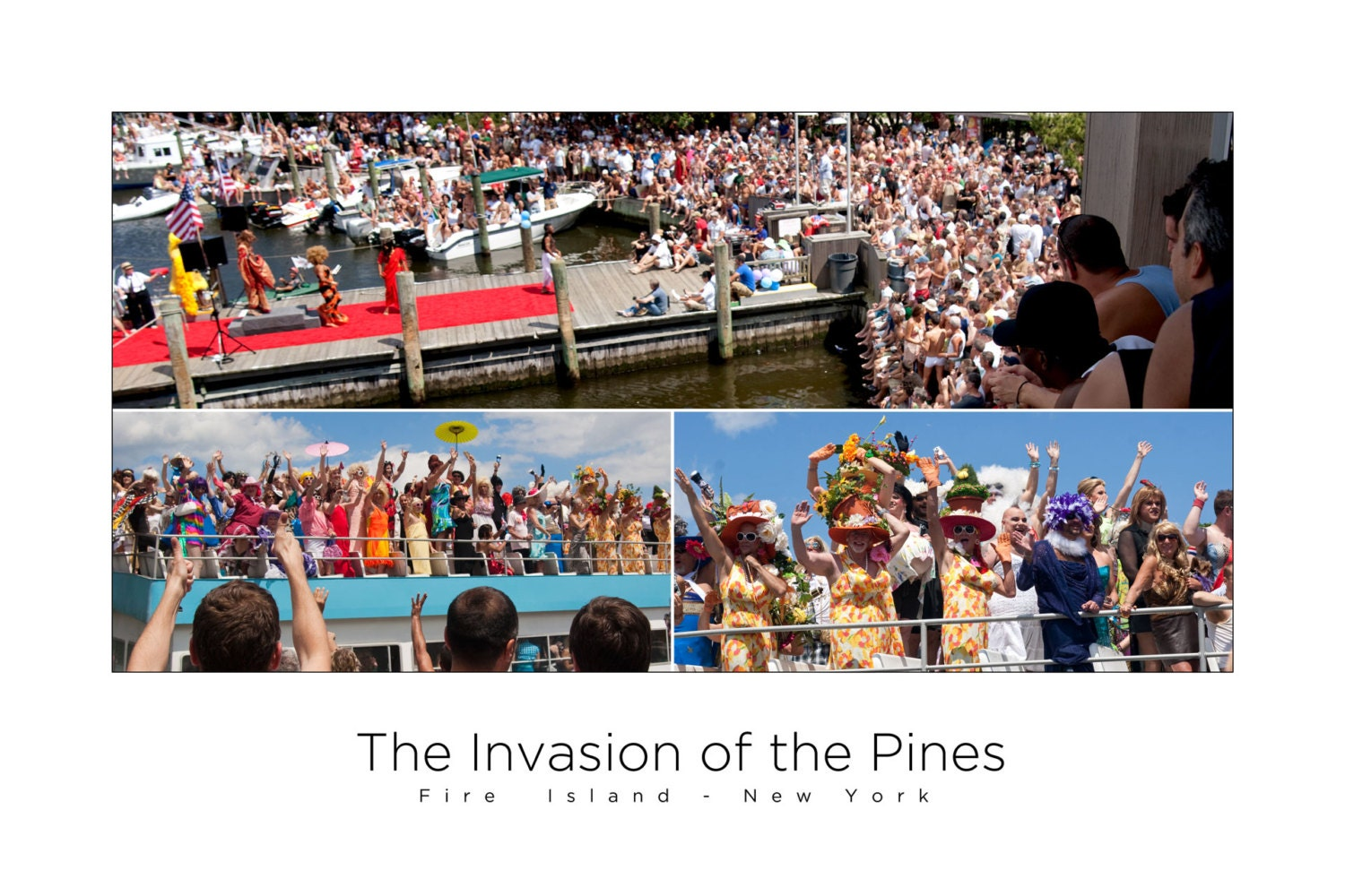 Fire Island Pines Poster - The Invasion of the Pines