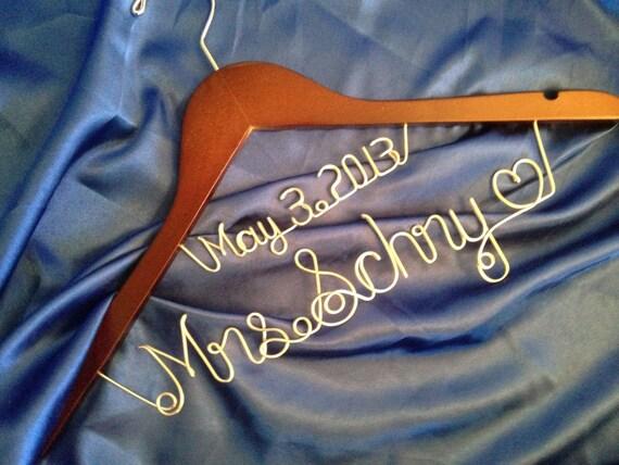 BONUS GIFT- Wedding dress hanger, personalized bridal hanger, bridal gift, wedding hanger, wire name hanger
