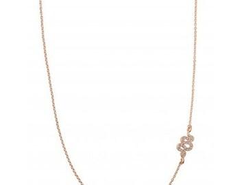 Vintage Style Rose Gold Snake Delicate Necklace