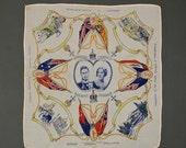 Vintage Royal Coronation Handkerchief, English 1937