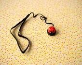 Red Ladybug Lens Cap Keeper Strap for Cameras
