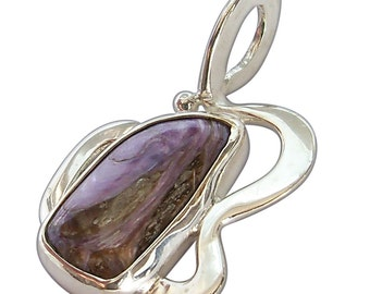 Charoite Pendant set in Sterling Silver  pchtd2141