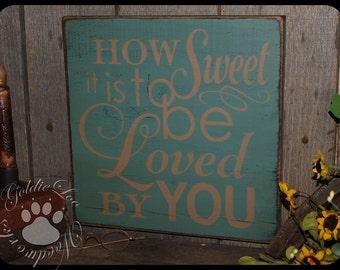 How Sweet It Is.., Wood Wall Sign, Typography, Word Art, Subway Art, Handmade