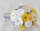 Country Chic Bouquet in Yellow and Grey, small