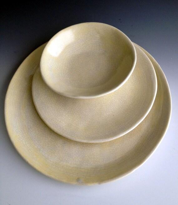 Handmade Organic Stoneware Dinnerware By Lesliefreemandesigns